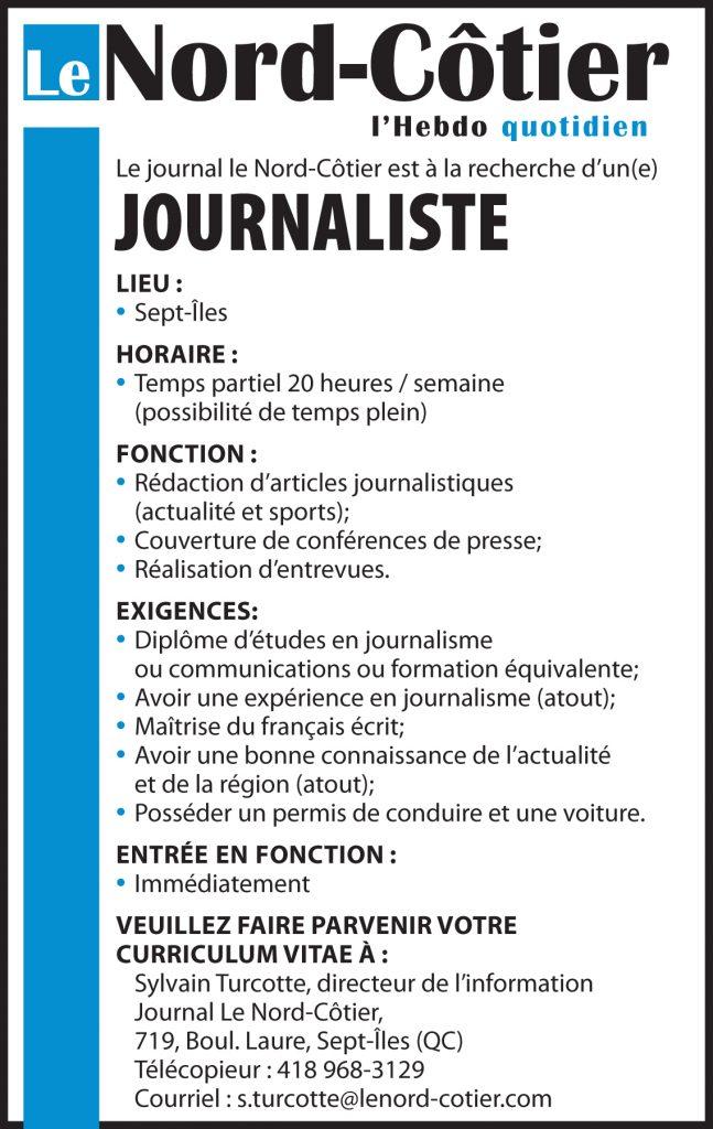 Logo de Journal Le Nord-Côtier
