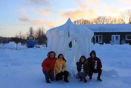 Concours de sculpture sur neige: Prix du jury pour une équipe portcartoise