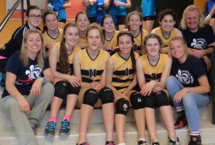 Les Macareux 15 ans et moins jouent leur meilleur volley au Championnat provincial civil