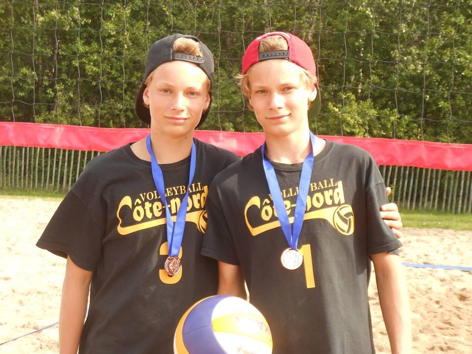 Volleyball de plage: Les jumeaux Dupuis-Coutts tiennent leur bout