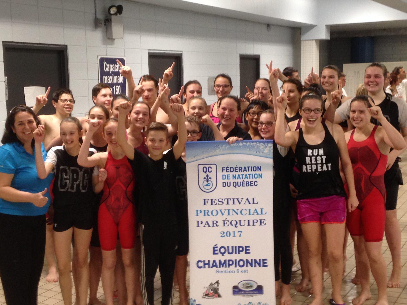 Les Cachalots décrochent la bannière du Festival par équipe de natation
