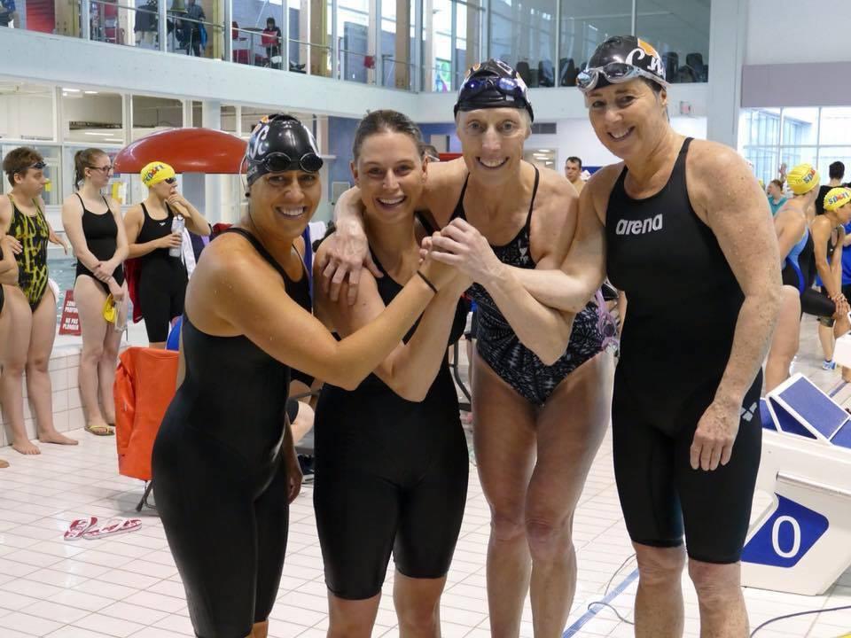 Les Septiliennes gagnent leur part de médailles aux Championnat canadien des Maîtres-Nageurs 2017