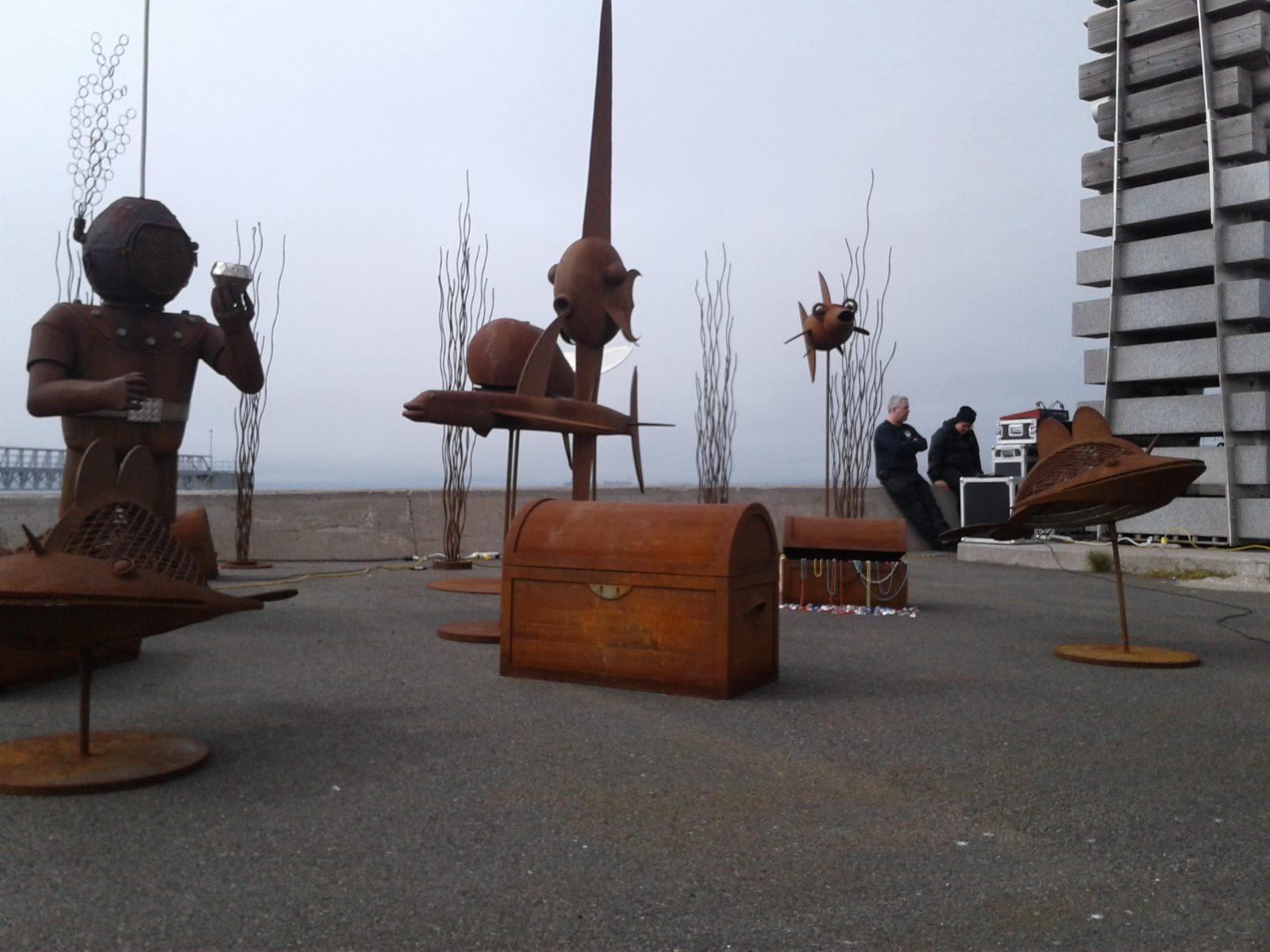 Les sculptures «rouillées» du parc Ferland seront exposées aux voyageurs internationaux
