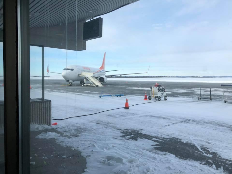 Sunwing retarde un vol pour attendre ses passagers coincés par la poudrerie