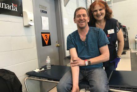 La collecte de sang bat son plein