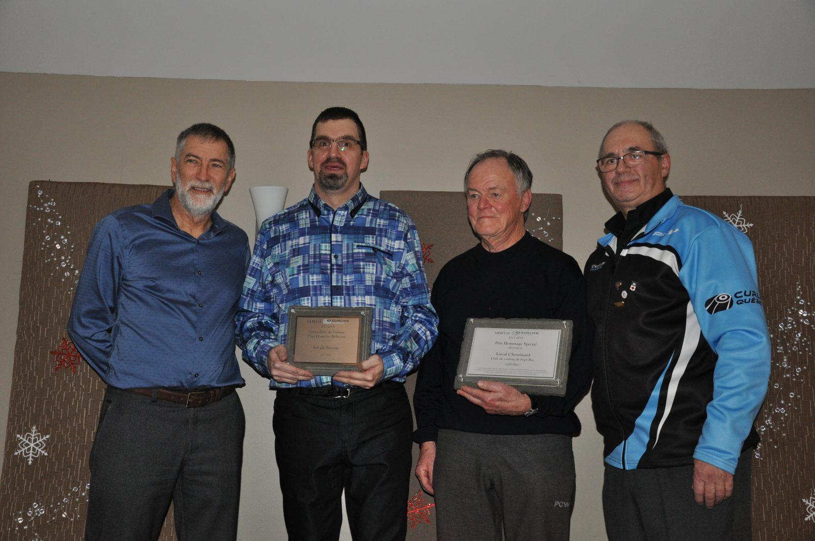 Curling Québec récompense Laval Chouinard et Sylvain Turcotte