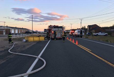 Une famille victime d'un incendie majeur à Port-Cartier