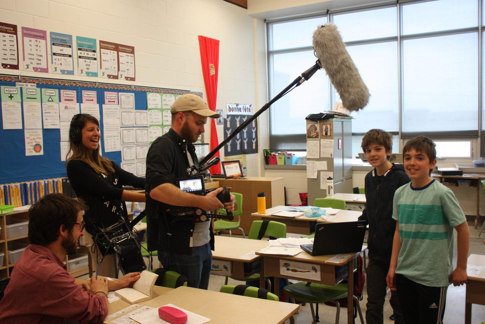 Un projet scolaire attire des documentaristes à l'École du Boisé