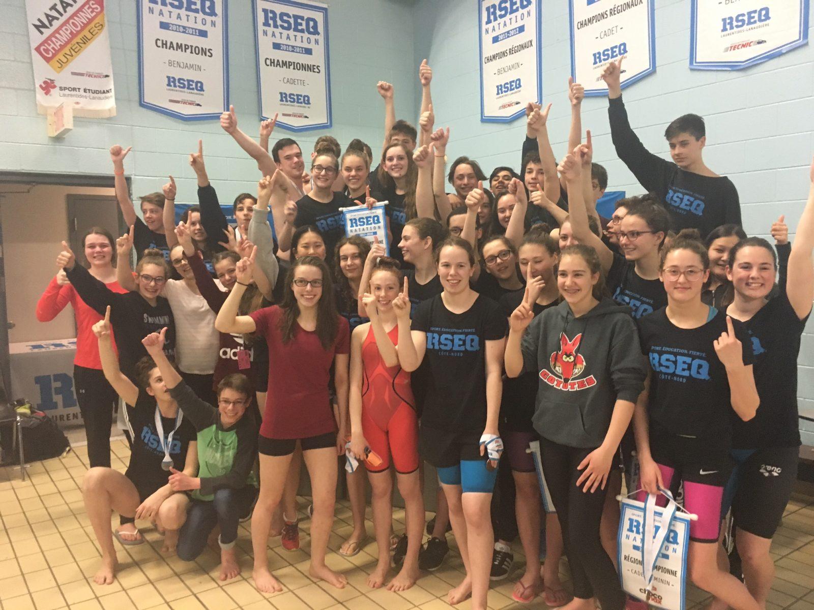 Championnat provincial de natation du RSEQ : la Côte-Nord décroche la bannière!
