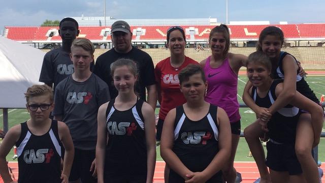 Brochu, Croteau, Desjardins et Lebel décrochent une médaille au Championnat provincial d'athlétisme