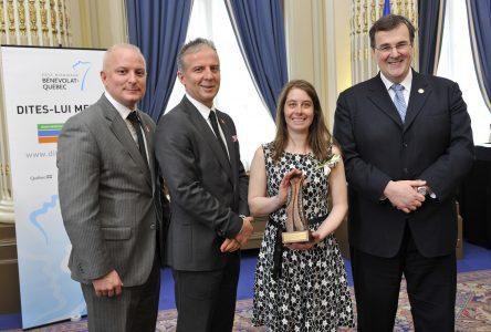 Bénévolat:Des efforts reconnus et récompensés pour Laurie Blais