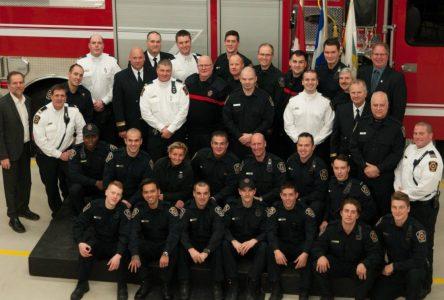 Sept-Îles souligne l'engagement de ses pompiers