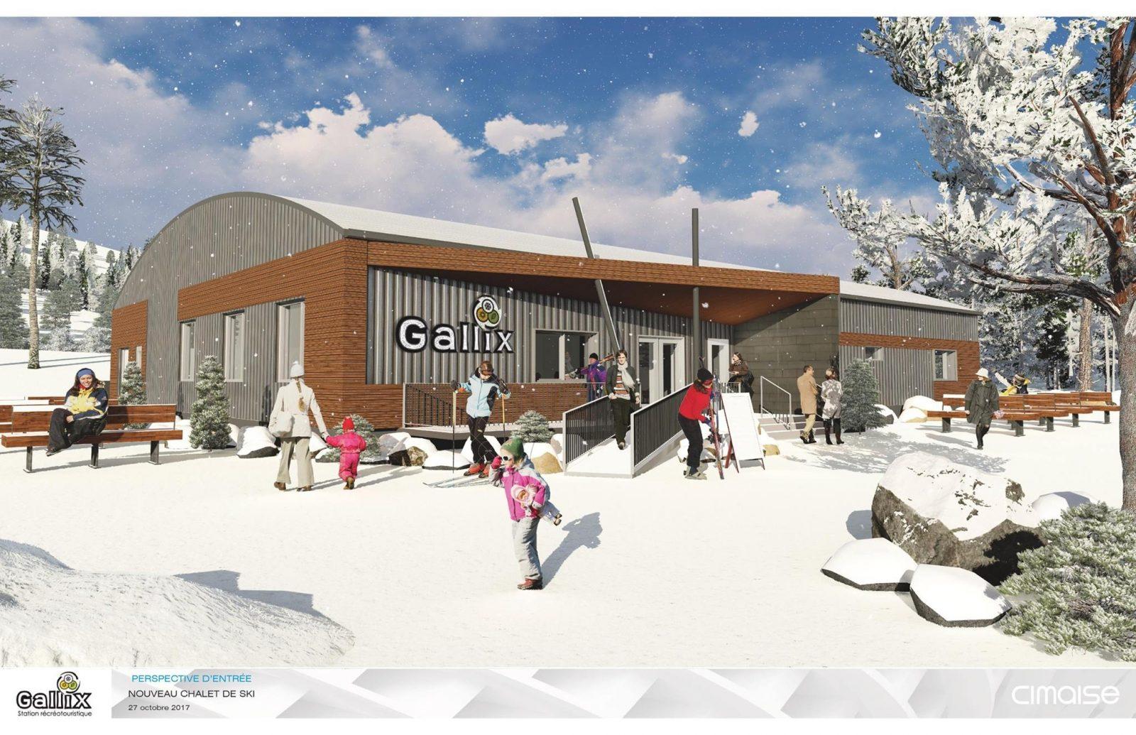 La neige s'installe à la Station Gallix