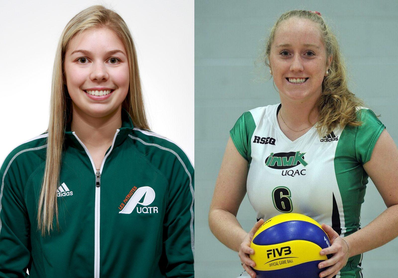 Babin et Marcoux figurent au tableau d'honneur en volleyball universitaire division 2