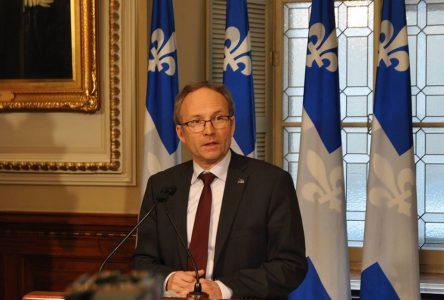 Élus condamnés pour infraction criminelle: Martin Coiteux dépose un amendement
