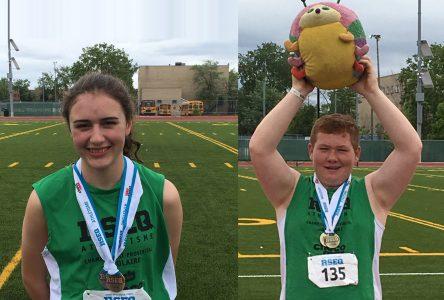 Dumas et Driscoll décrochent deux médailles au Championnat provincial d'athlétisme