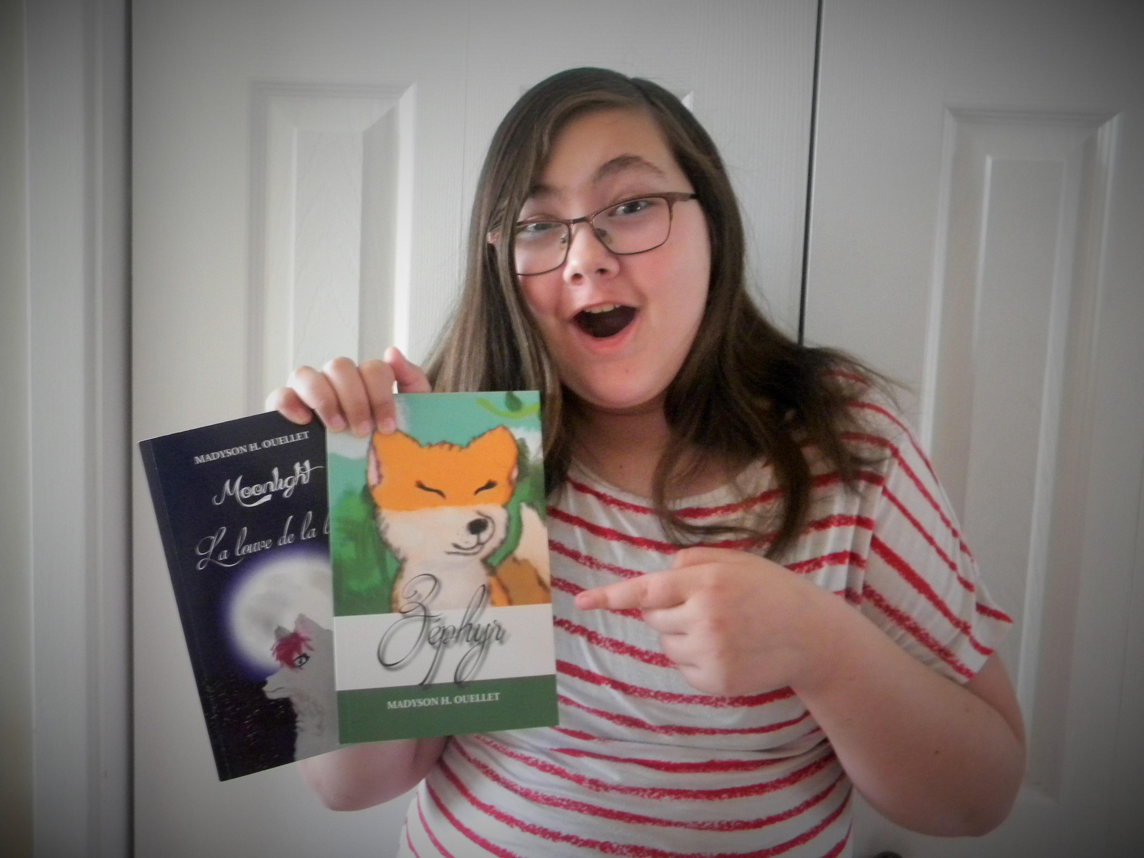 À 11 ans, une Port-Cartoise publie deux livres