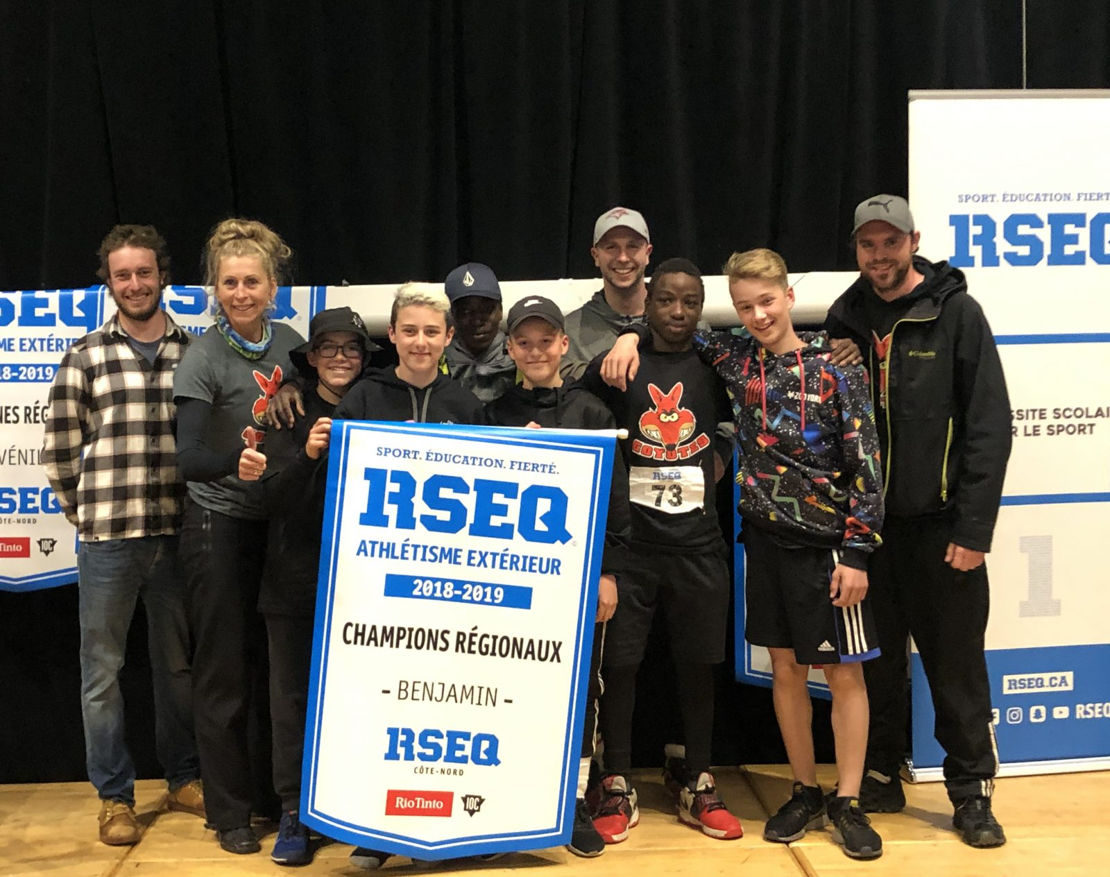 Le CEL'A et la Commission scolaire du Littoral récoltent des bannières en athlétisme