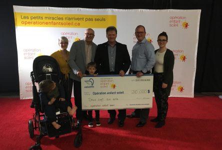 Aluminerie Alouette se montre généreuse pour Opération Enfant Soleil