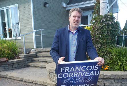 Élections : François Corriveau cause environnement