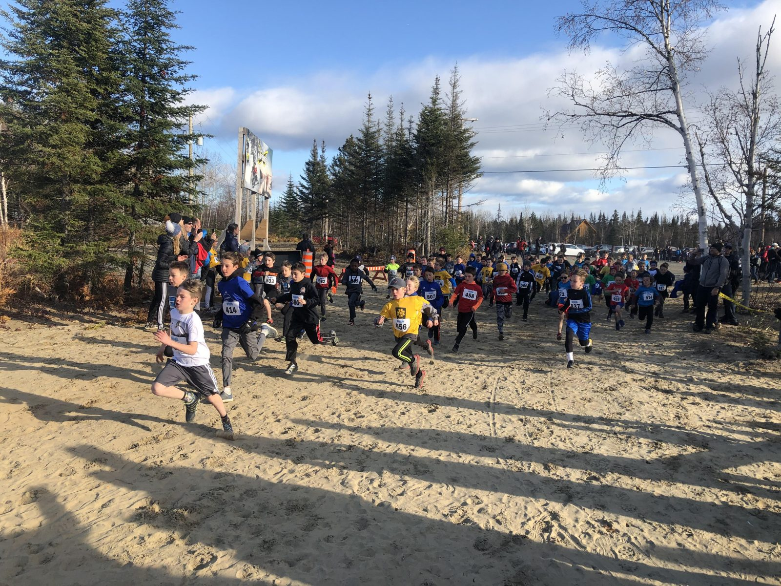 Les étudiants-athlètes nord-côtiers se donnent à fond au cross-country
