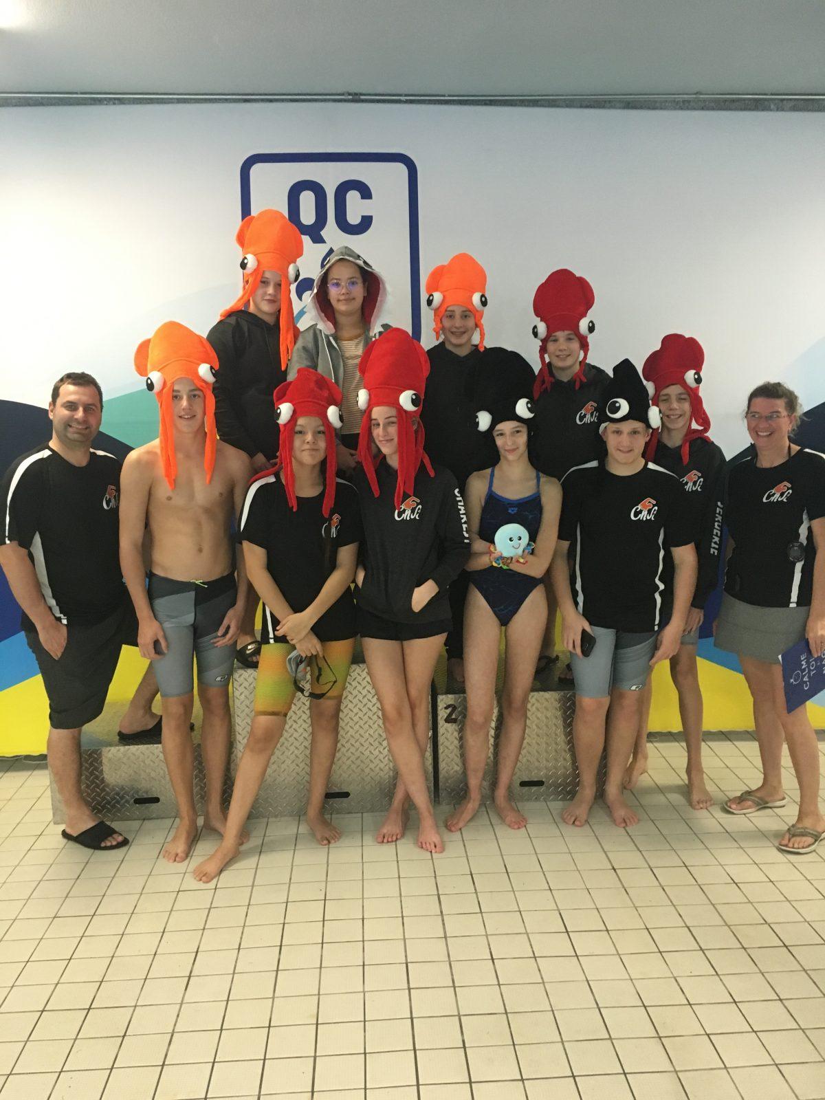 Le Club de natation de Sept-Îles ramène 13 médailles de Jonquière