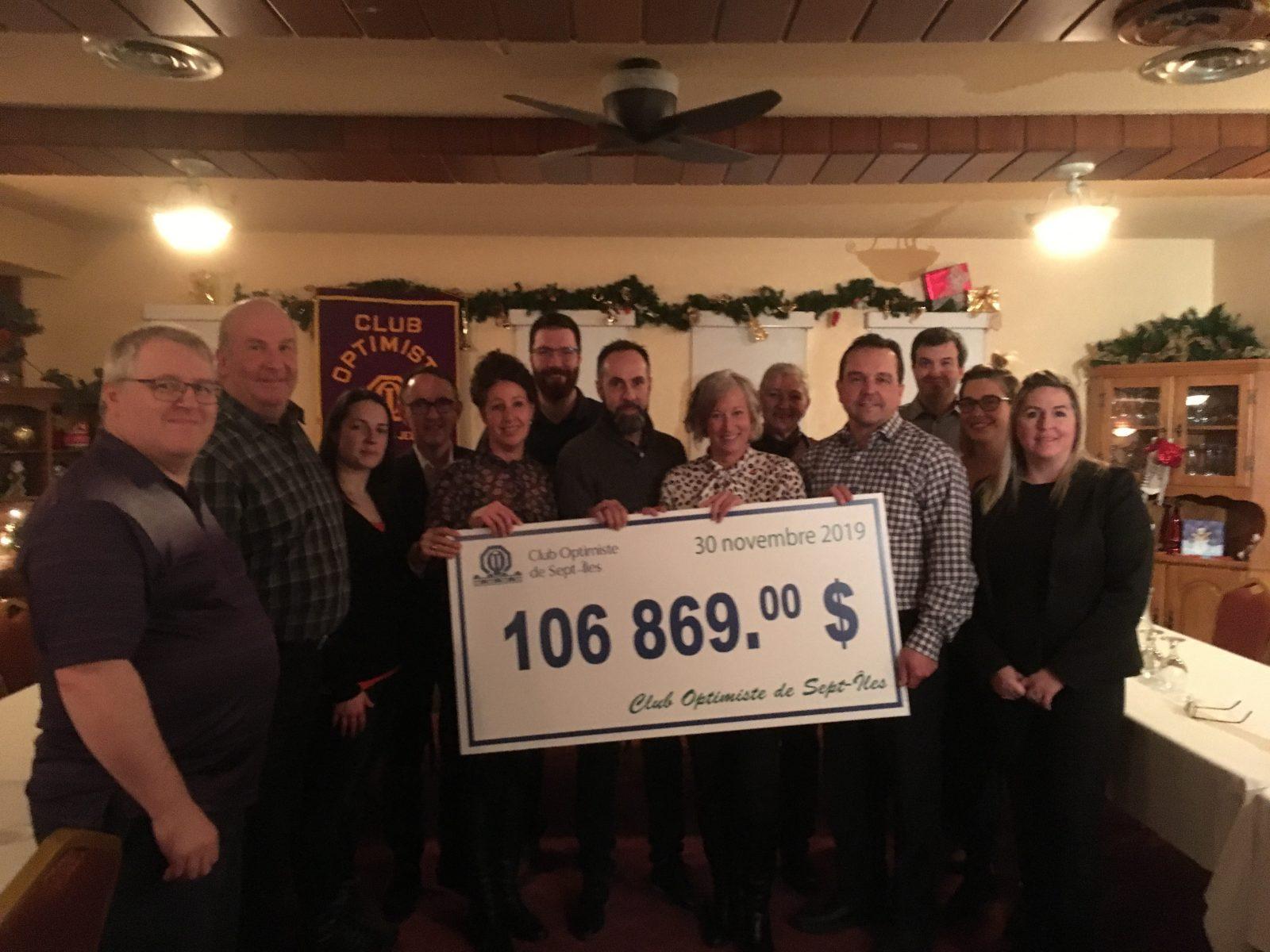 Club Optimiste de Sept-Îles : un souper-bénéfice qui rapporte gros