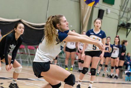 Volleyball collégial : les filles se relèvent à temps