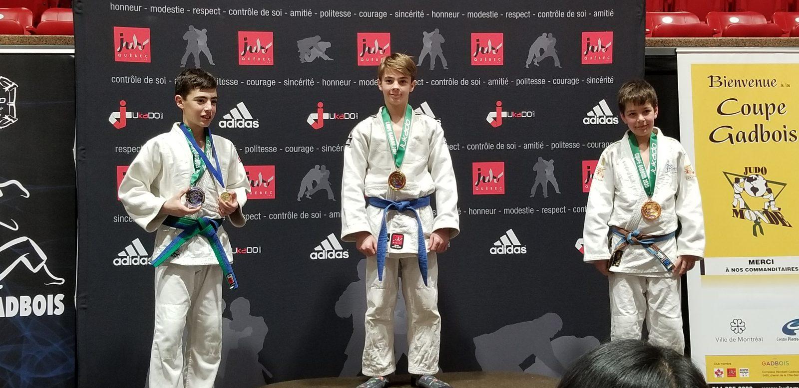 Les judokas septiliens montent cinq fois sur le podium à la Coupe Gadbois