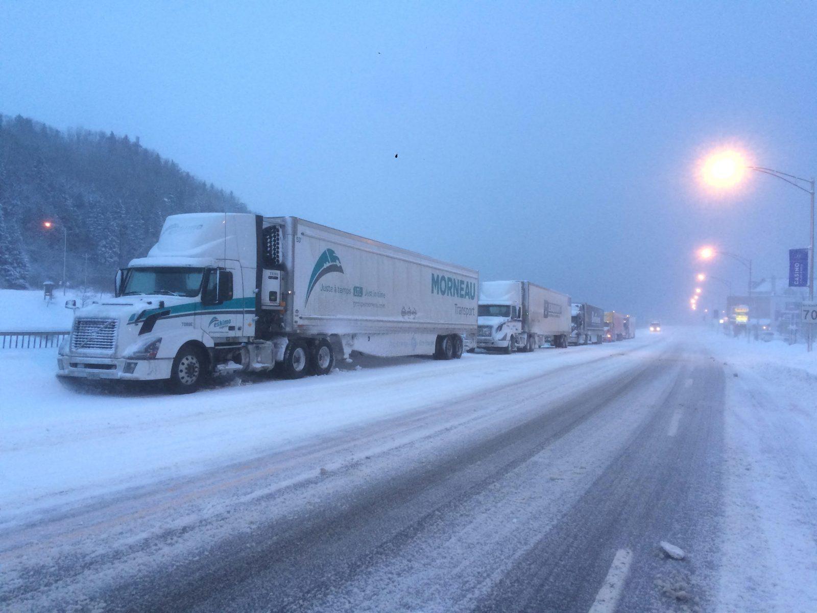 La route 138 rouverte aux véhicules lourds dans Charlevoix