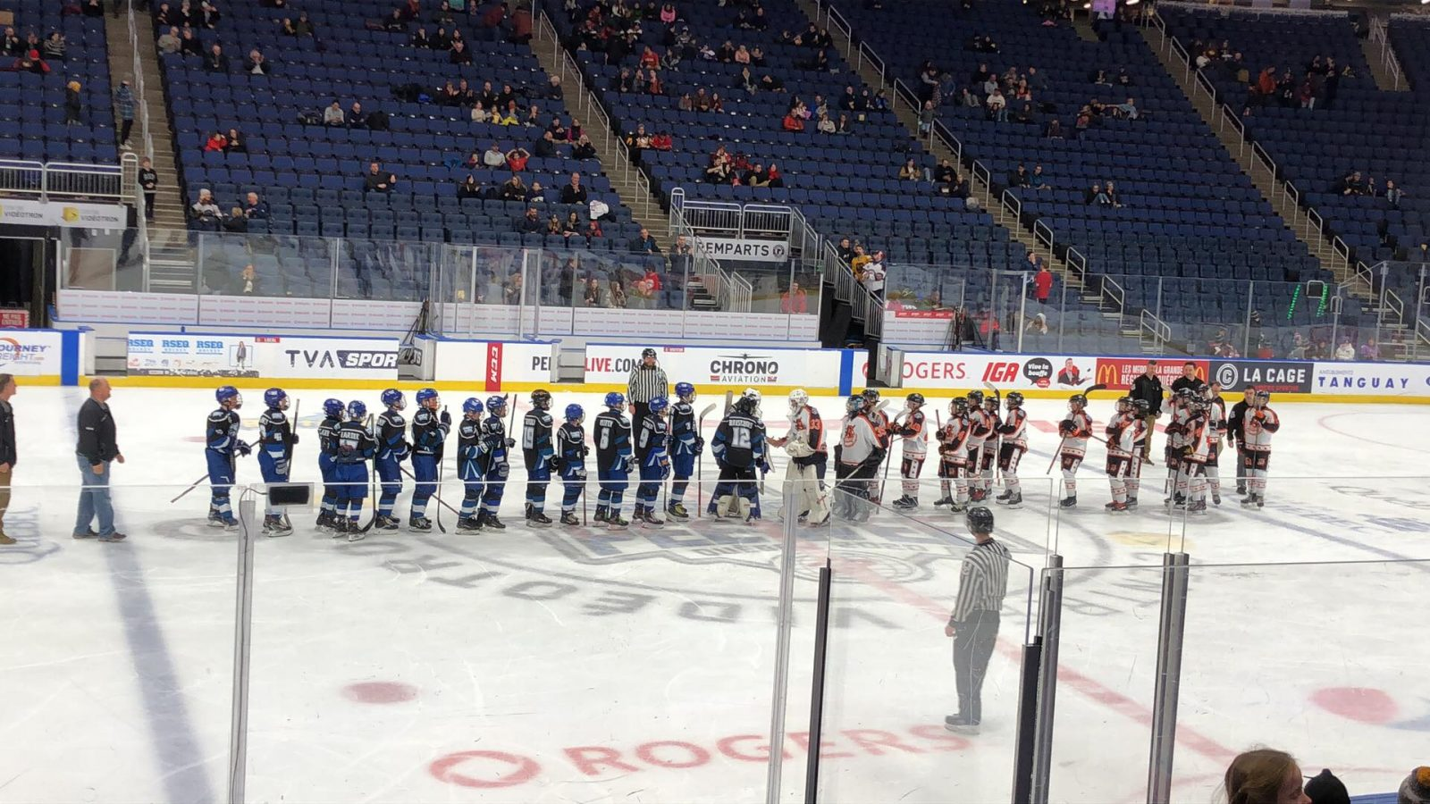Tournoi international de hockey pee-wee de Québec : les Basques s'inclinent contre les Bulls de Tampa