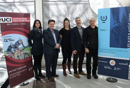 Du paracyclisme et du cyclisme sur route à Baie-Comeau en 2020
