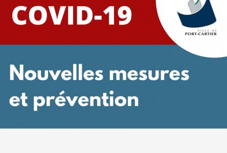 COVID-19 – La Ville de Port-Cartier bonifie ses mesures préventives