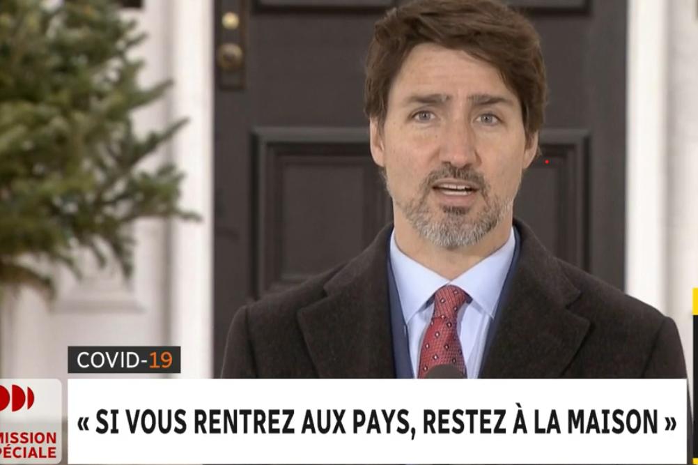L'isolement de 14 jours devient obligatoire a assuré Justin Trudeau