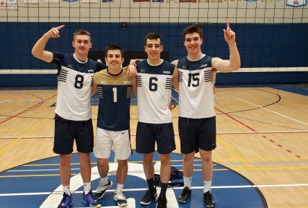 Des Septiliens s'illustrent sur la scène collégiale au volleyball