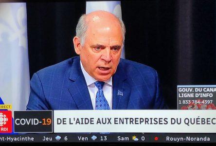 COVID-19 : Québec débloque 2,5 G$ pour aider les entreprises