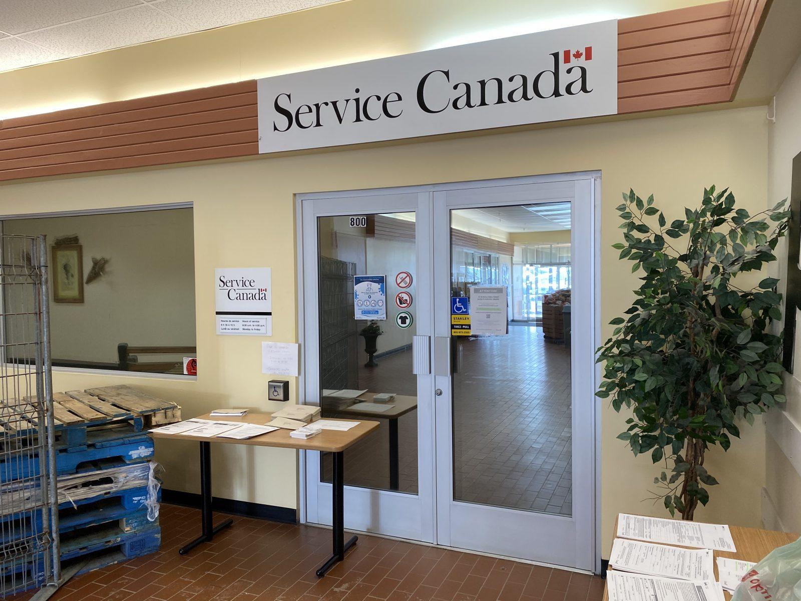 Le bureau de Service Canada à Sept-Îles assure les services critiques uniquement