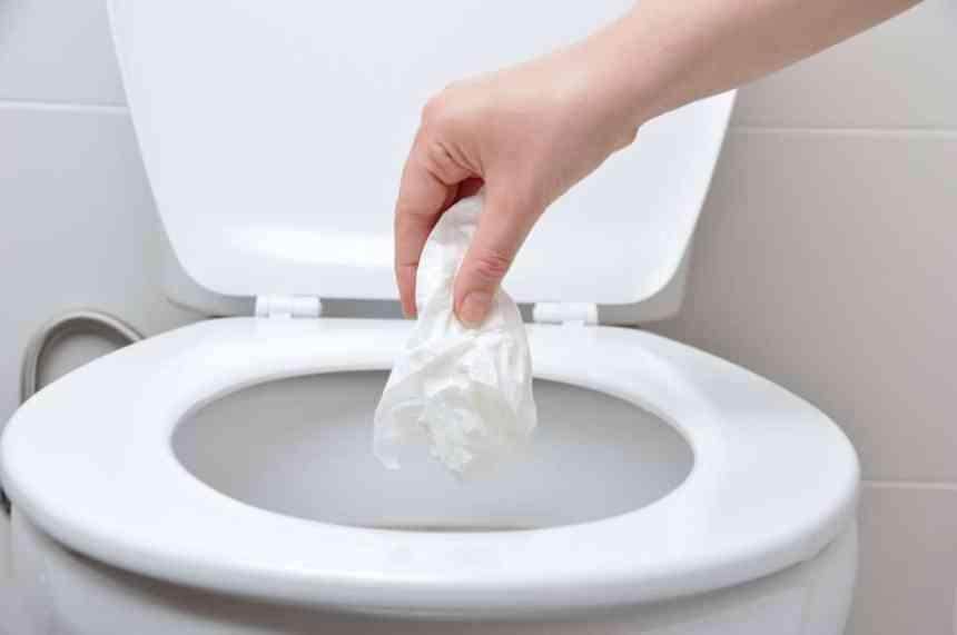 Ne pas jeter les lingettes dans la toilette!