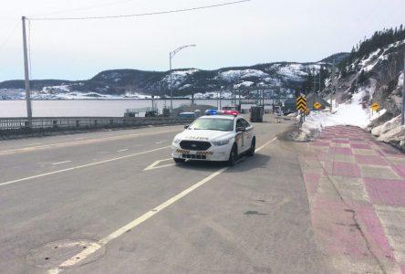Tadoussac et Sacré-Cœur : les barrages routiers seront remis en place à 16 h