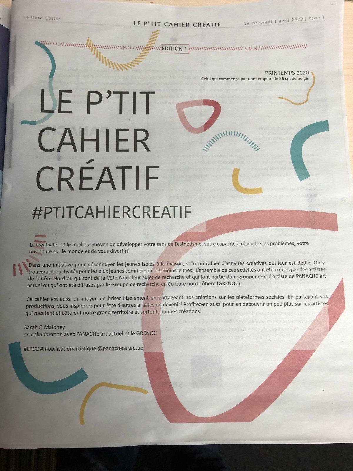 «Le P'tit Cahier Créatif», l'idée de Sarah F. Maloney