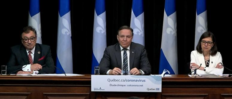 Malgré une baisse des décès, le virus rôde partout au Québec, prévient François Legault