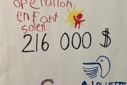 Aluminerie Alouette contribue généreusement à Opération Enfant Soleil