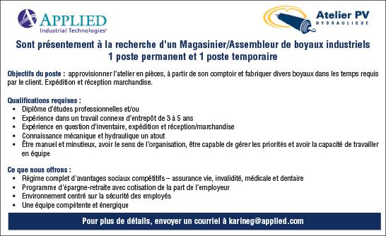 Magasinier/assembleur