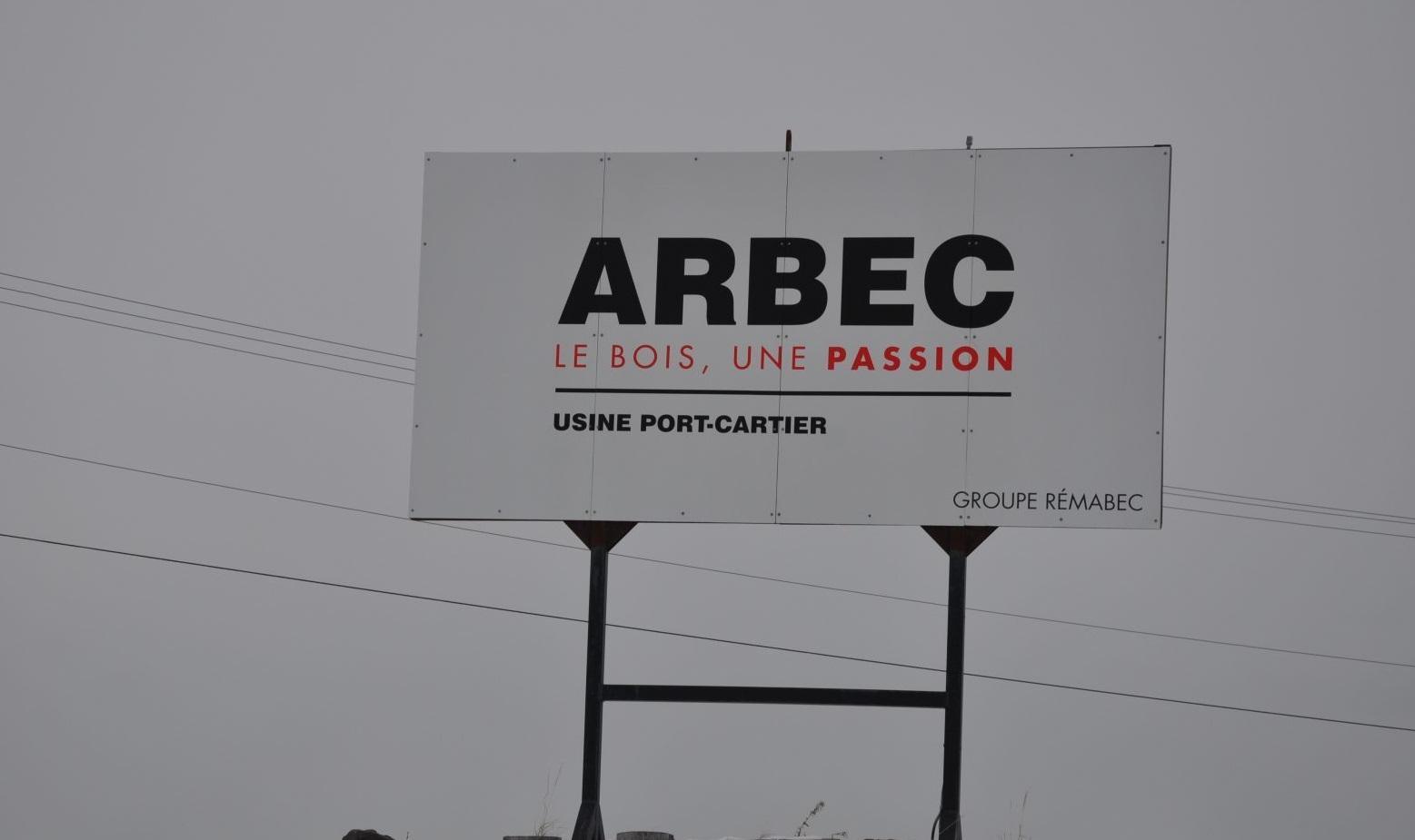 Fin des opérations à l'usine Arbec de Port-Cartier