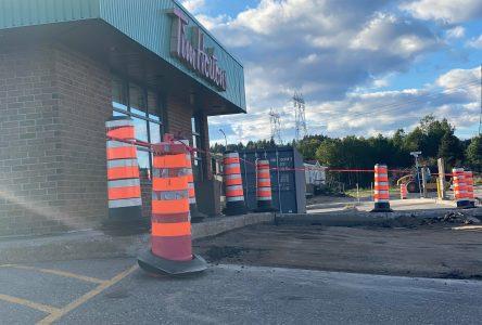 Un bris d'aqueduc cause la fermeture temporaire du Tim Hortons à Port-Cartier