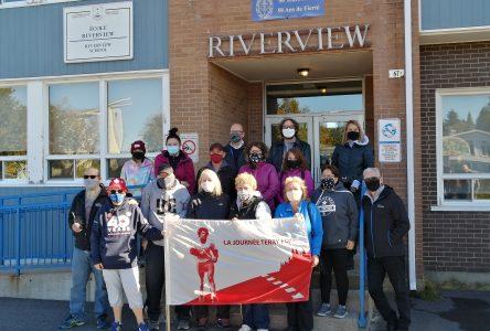 Des marcheurs inattendus pour la Journée Terry Fox