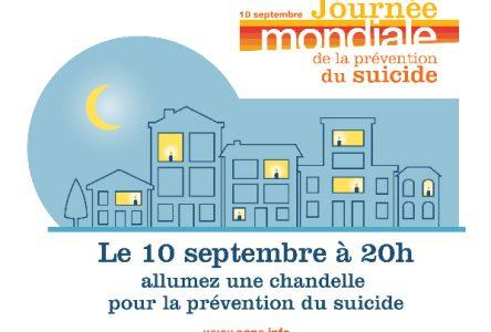 Jeudi, Journée mondiale de la prévention du suicide