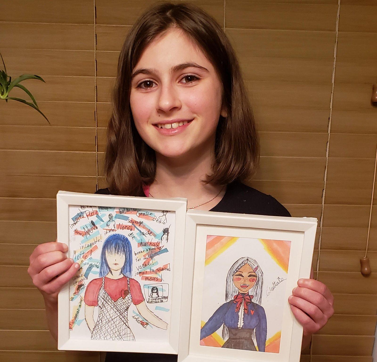 Élodie Maltais de Pointe-Lebel aborde l'intimidation dans ses mangas