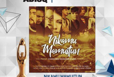 Le Félix Album de l'année – Autres langues est décerné à Nikamu Mamuitun