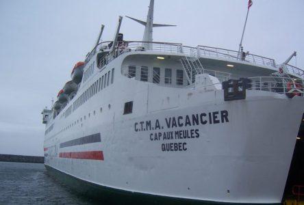 Le CTMA Vacancier en service jusqu'au retour du F.-A.-Gauthier